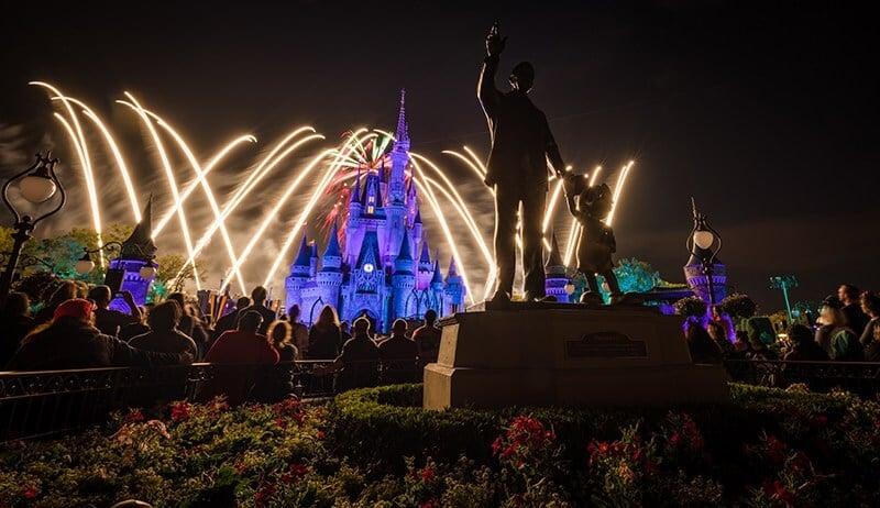 Show nocturno de fuegos de Disney