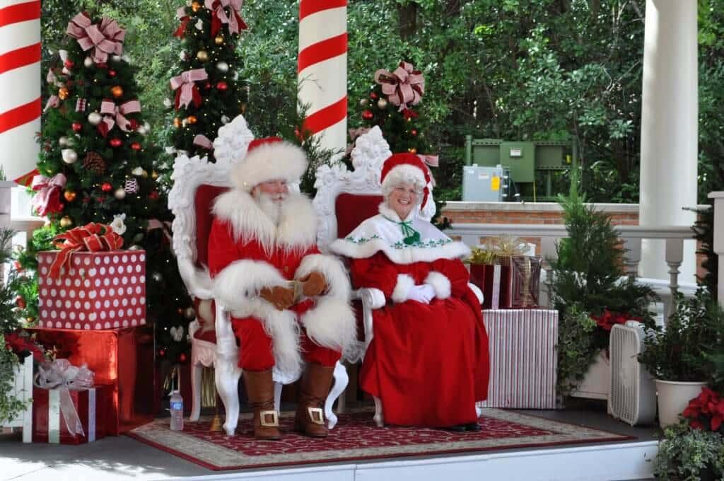 Papai Noel no parque Disney Epcot