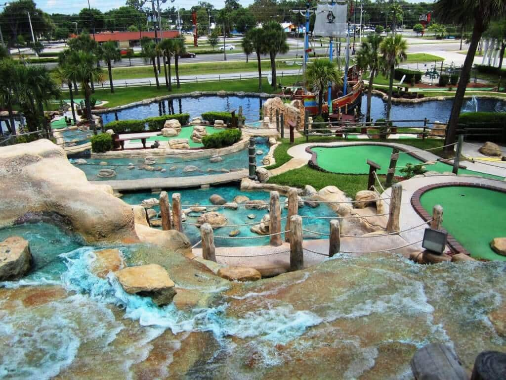 Clube de golfe Pirate's Island Adventure Golf na Flórida
