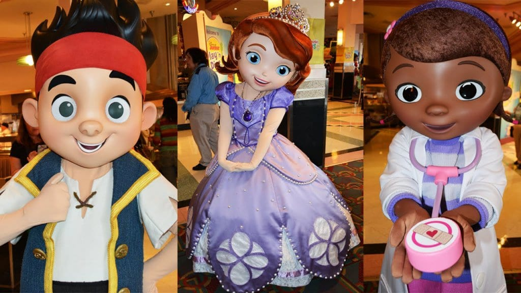 Personagens do Café da manhã do Disney Junior para crianças no Hollywood & Vine7
