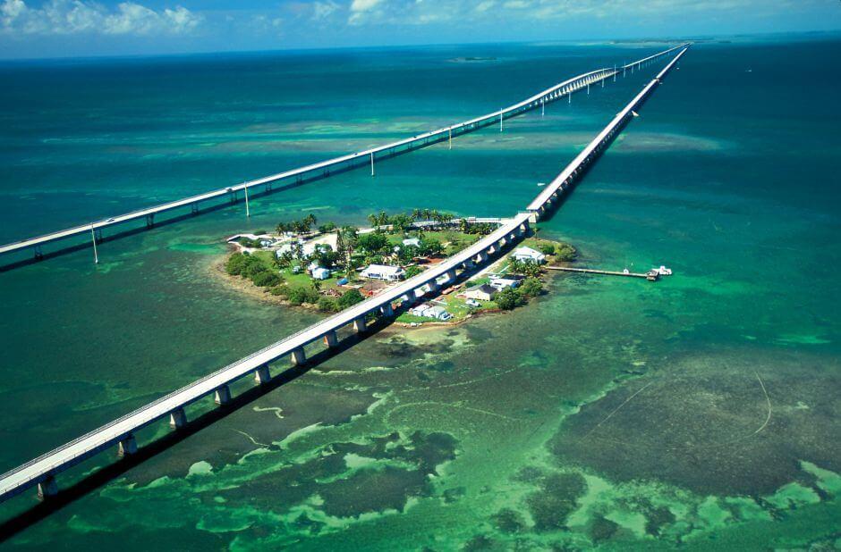 Praias de Key West no Sul da Flórida