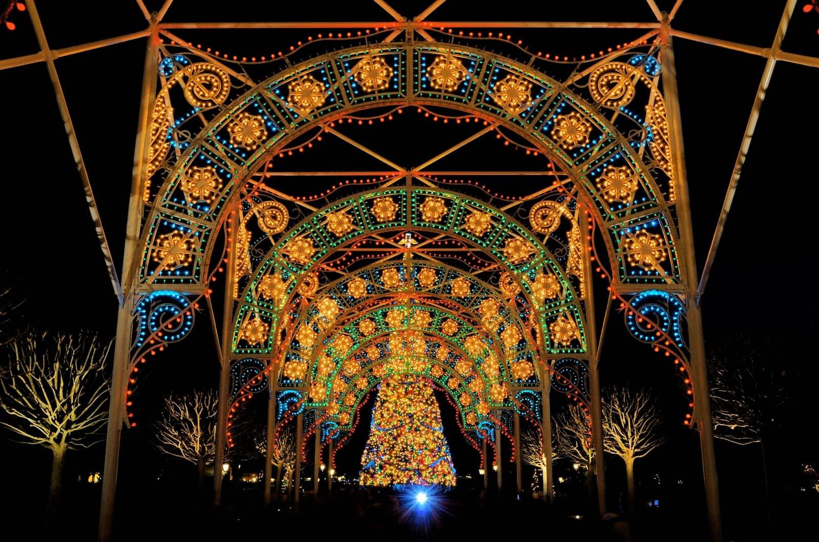 Noite no Epcot da Disney Orlando