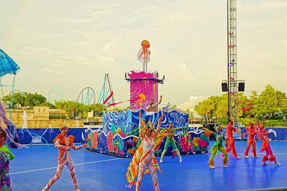 Show do Electric Ocean: o evento de verão do parque SeaWorld Orlando