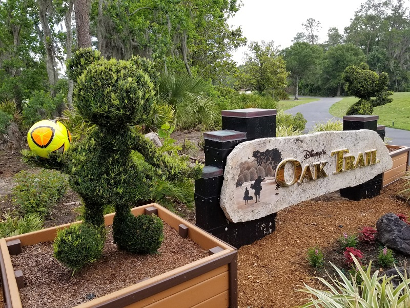 Entrada do Disney's Oak Trail Golf Course em Orlando