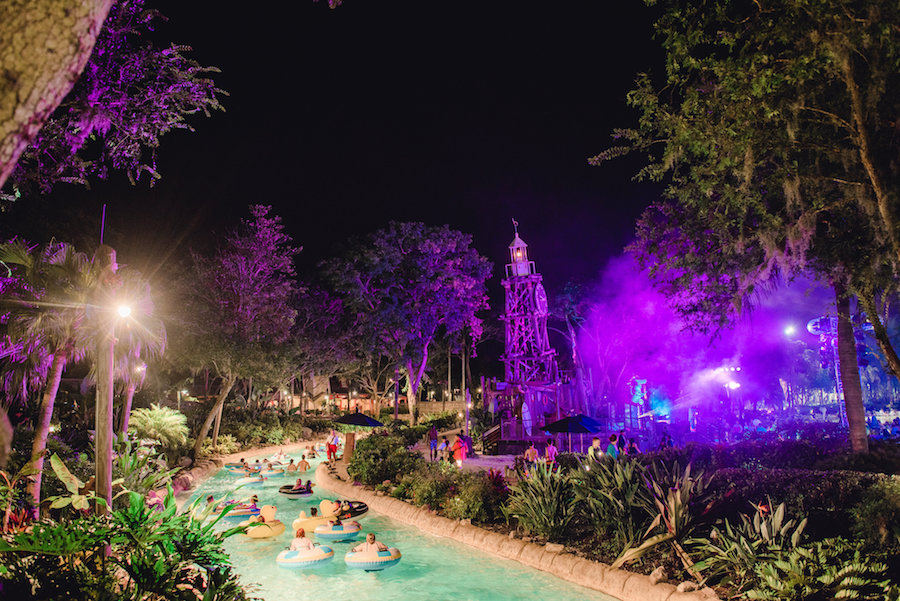 Rio no H2O Glow Nights no Typhoon Lagoon Orlando