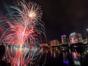 4 de julho no Lake Eola Park Orlando