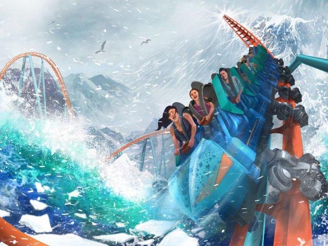 Nova montanha-russa Ice Breaker do SeaWorld Orlando