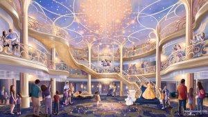 Saguão do cruzeiro Disney Wish