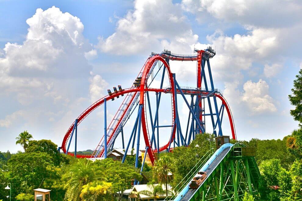 Montaña rusa en Busch Gardens