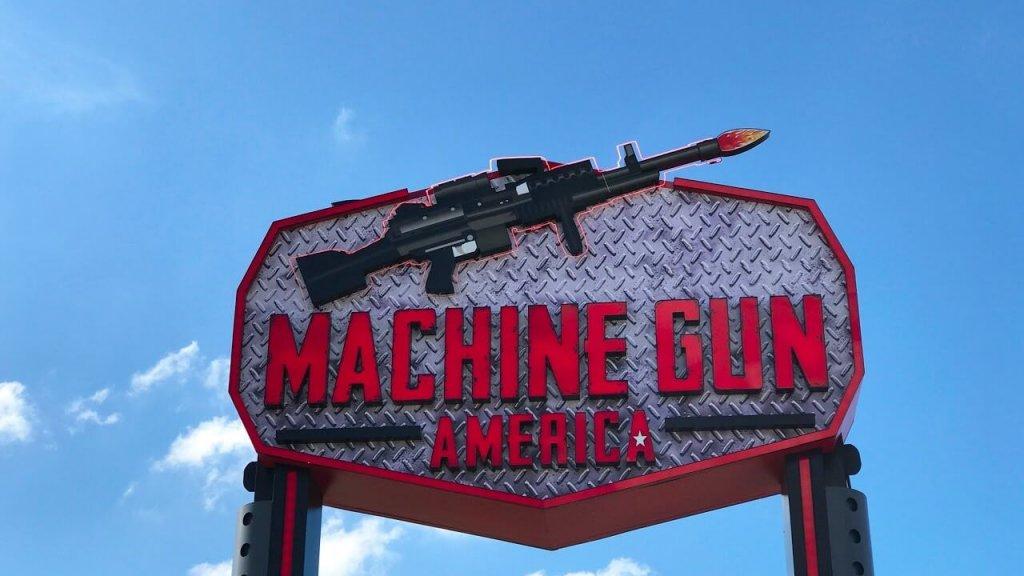 Entrada do Estande de tiros Machine Gun em Orlando