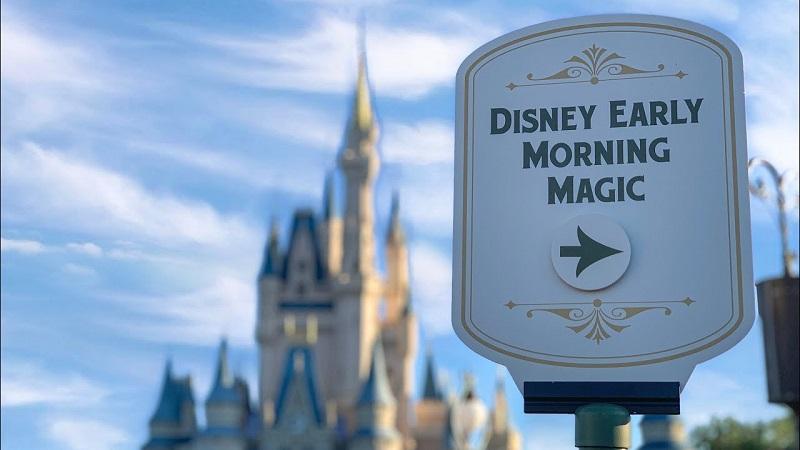 Entrada do Early Morning Magic da Disney em Orlando