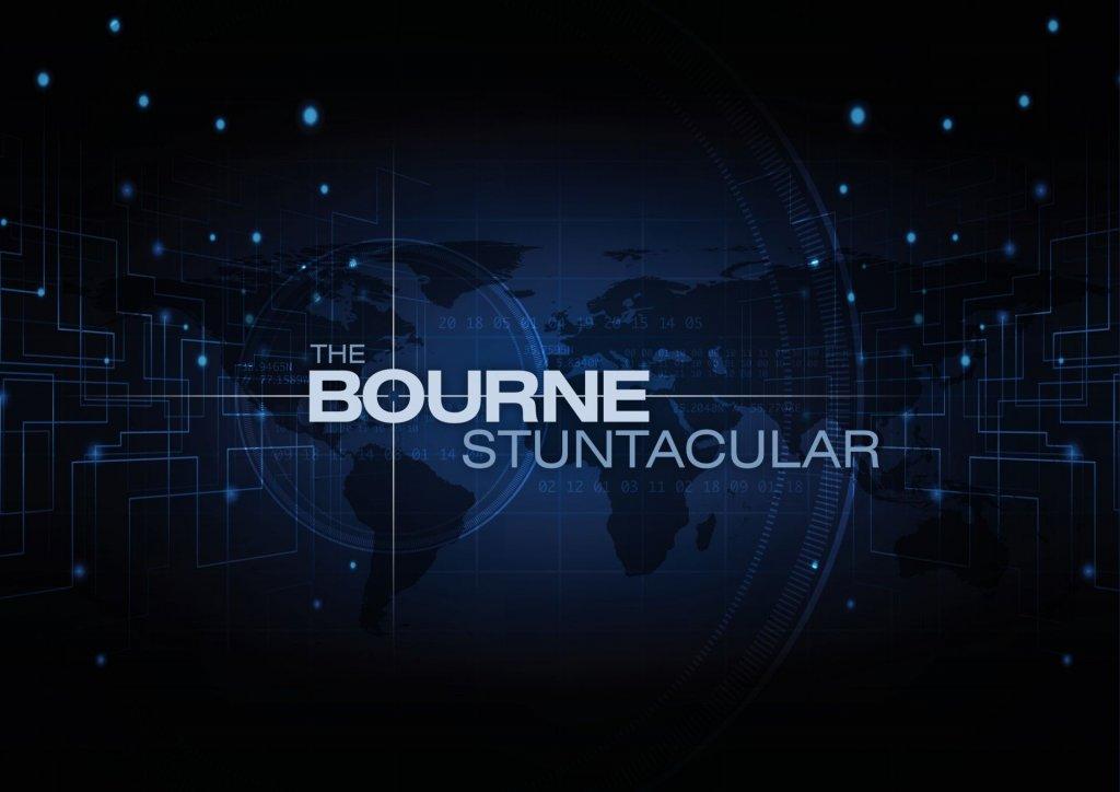 Anúncio do The Bourne Stuntacular na Universal Orlando
