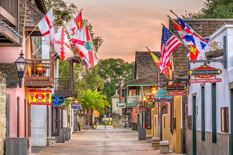 Distrito de Old City em Saint Augustine