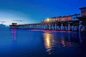 Noite no pier em Cocoa Beach