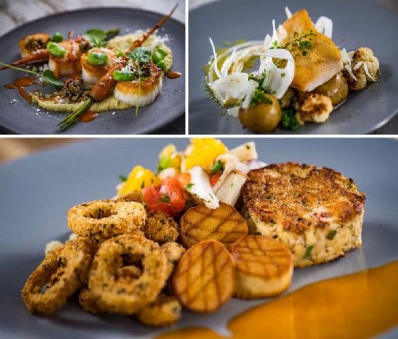 Pratos do restaurante Toledo de Tapas, Steak & Seafood na Disney Orlando