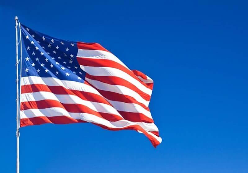 Bandeira dos EUA na Flórida