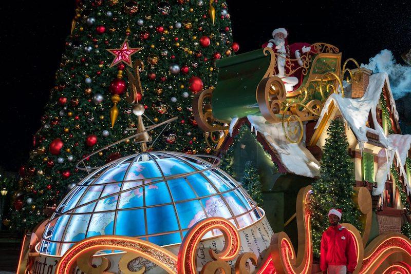 Natal da Universal - Decoração da entrada