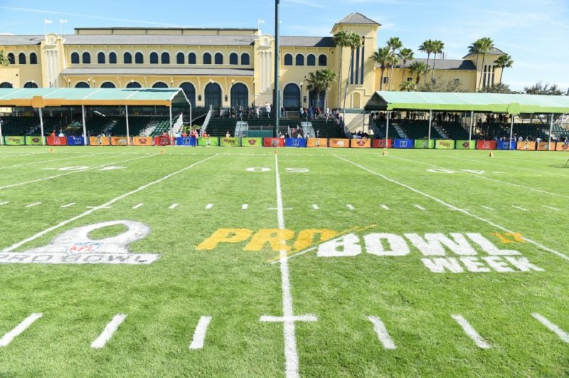 Quadra do NFL Pro Bowl Week 2020 na Disney Orlando