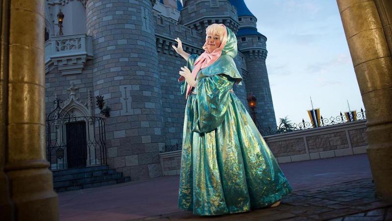 Fada madrinha no Early Morning Magic da Disney Orlando