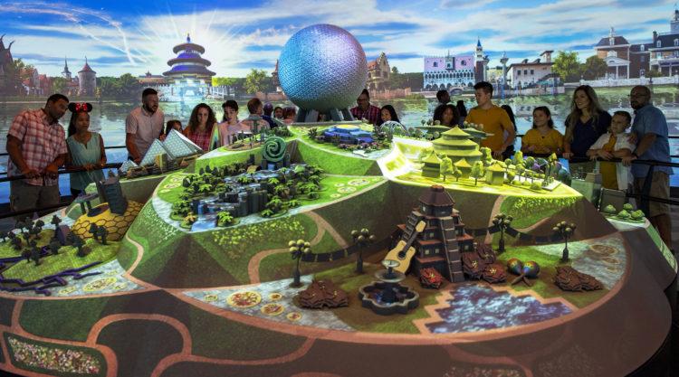 Interior do Epcot Experience no parque Epcot da Disney Orlando