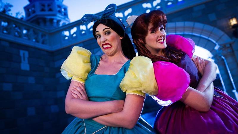 Irmãs malvadas no Early Morning Magic da Disney Orlando