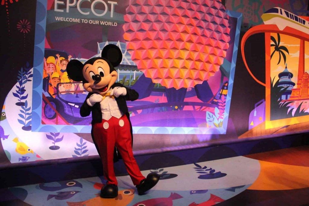 Mickey no parque Epcot Orlando