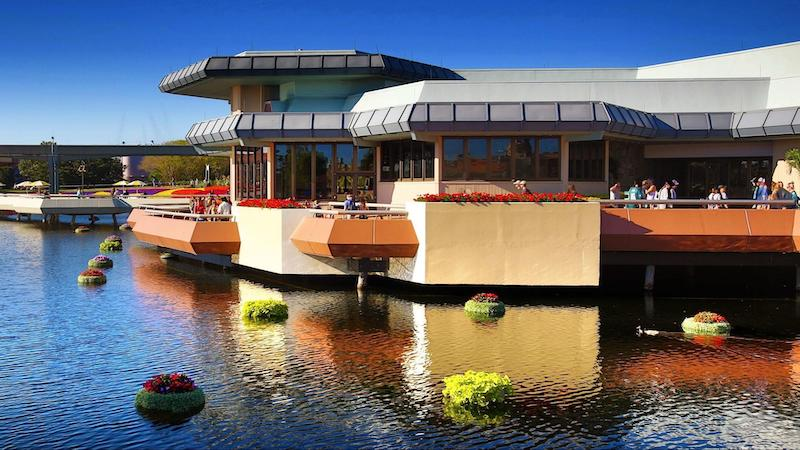 Fachada do Epcot Experience no parque Epcot da Disney Orlando
