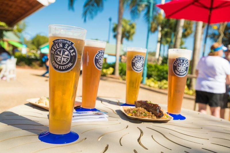 Cervejas do Festival Seven Seas Food no SeaWorld Orlando