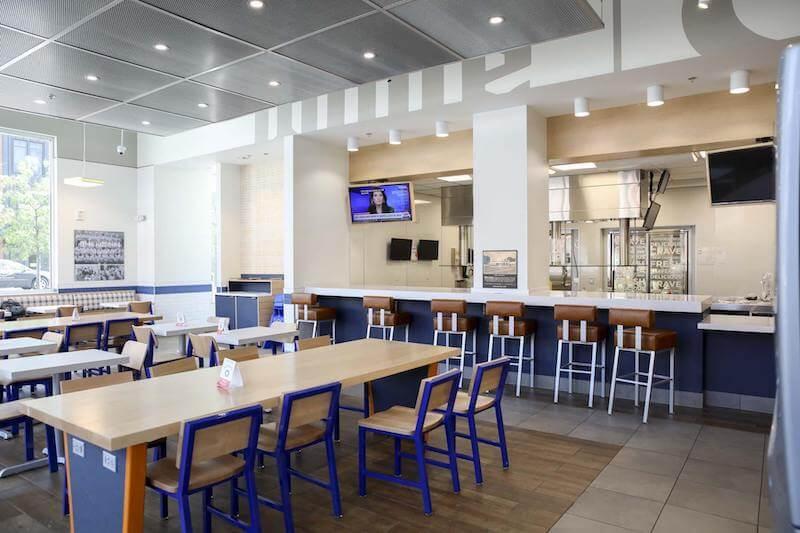 Interior do Restaurante White Castle em Orlando