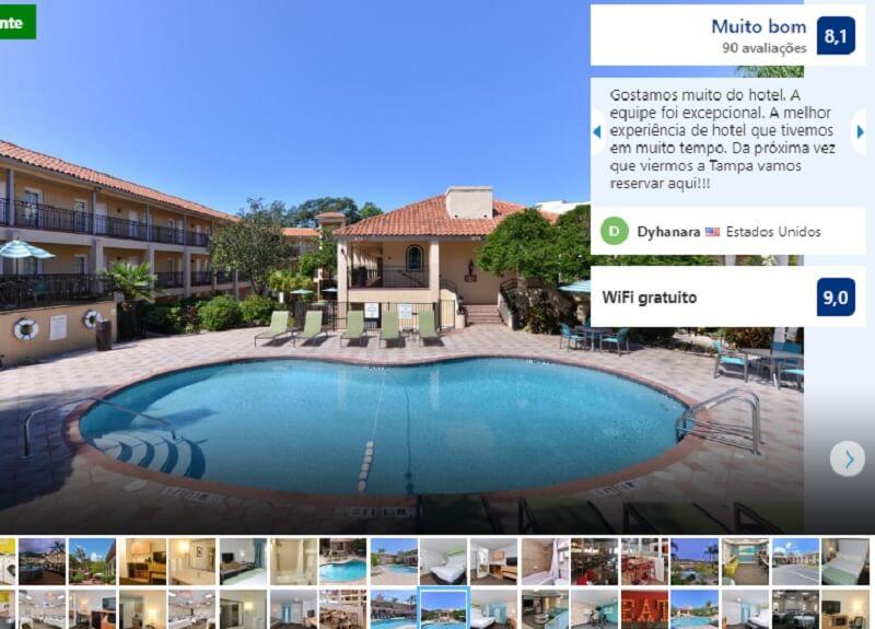 Piscina do Hotel Holiday Inn em Tampa