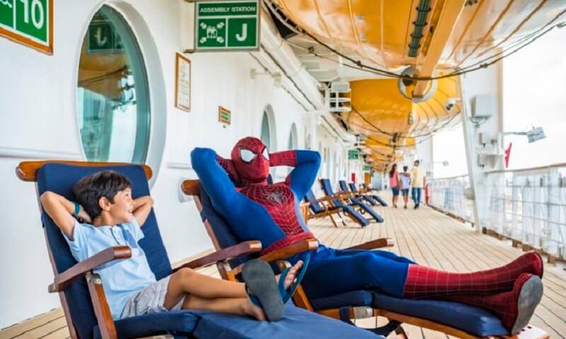 Homem-Aranha no Cruzeiro Marvel Day at Sea da Disney Cruise Line em 2021