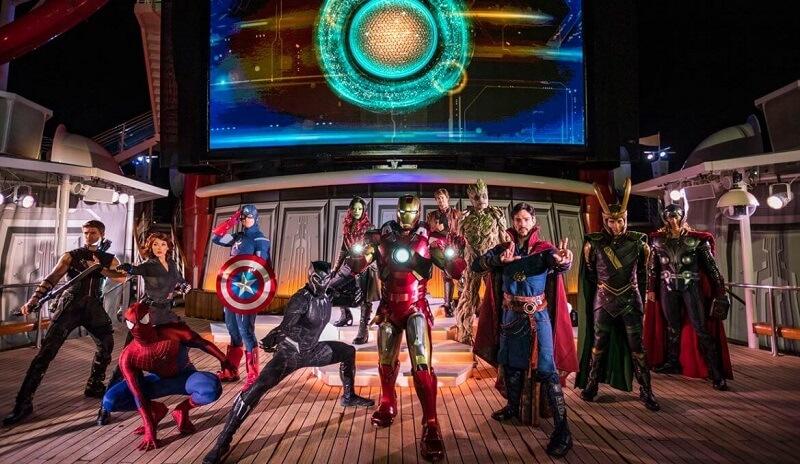 Heróis do Cruzeiro Marvel Day at Sea da Disney Cruise Line em 2021