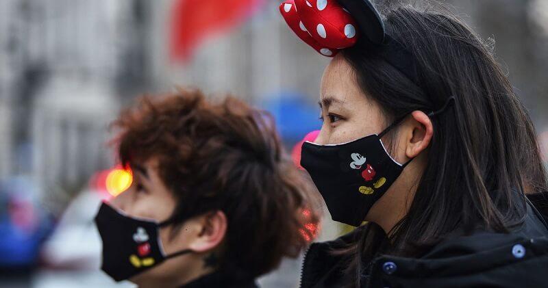 Máscaras de proteção da Disney