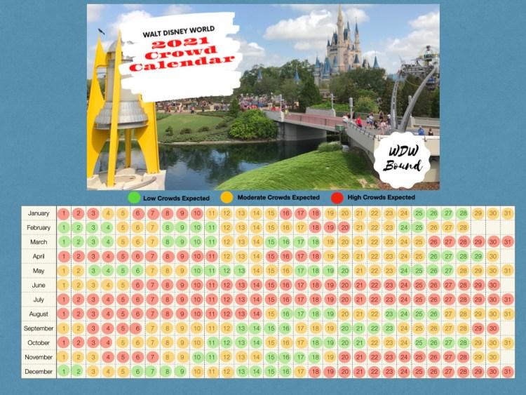 Calendário de lotação da Disney